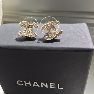 Chanel Authentic Crystal Earrings